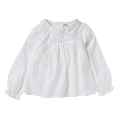 RUFFLE NECK COLLAR BLOUSE HEIDI