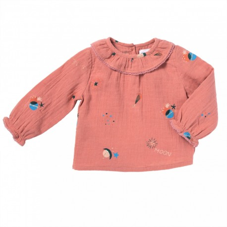 Printed blouse celestial and stars Mercure pink
