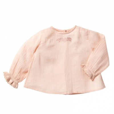 Embroidered blouse Nina pink