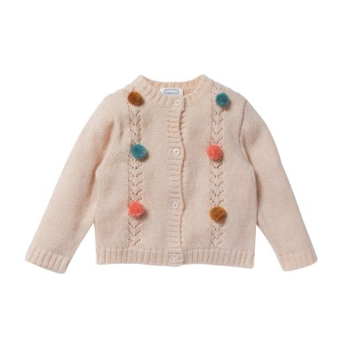 Cardigan with pompons Macha pinky