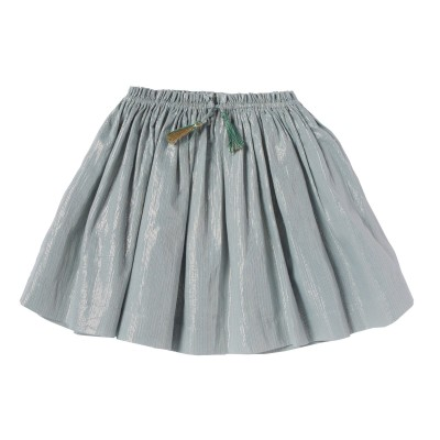 METALLIC STRIPPED SKIRT MELROSE