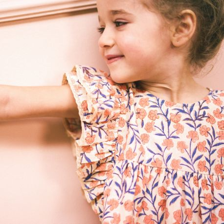 PRINTED DRESS WITH FRILLS LUCILE
