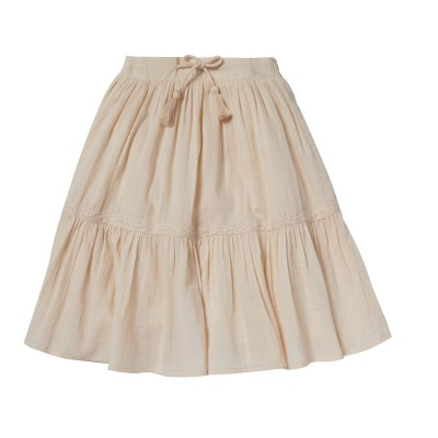 SKIRT WITH SMOCKS AND POMPONS BOHEME