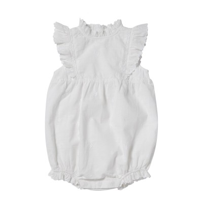 EMBROIDERED OVERALL GABIE WHITE