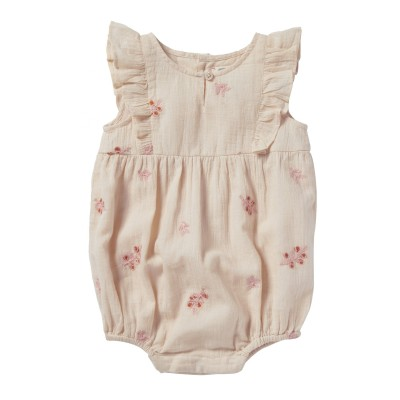 EMBROIDERED OVERALL NOE FLOWERS