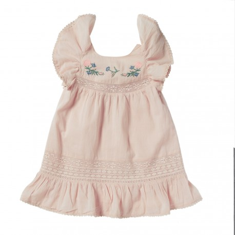 EMBROIDERED DRESS CORALIE