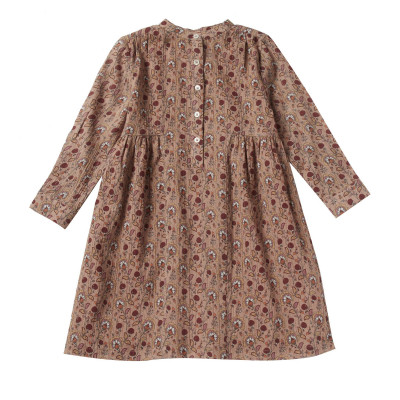 Dress in print flowers crepon Lullaby