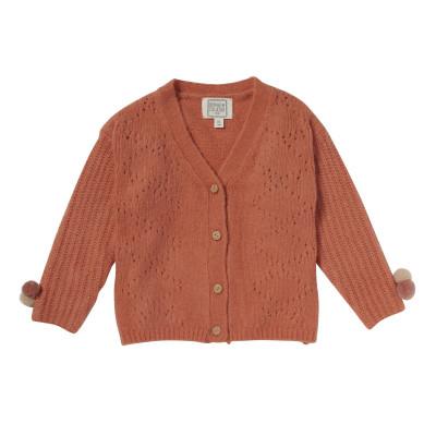 Cardigan fancy knitting Midway Orange